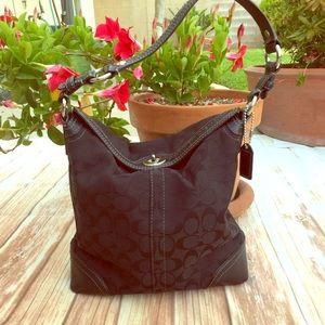 Black Coach authentic bag purse super clean sleek